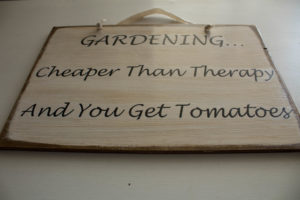 gardening cheaper than therapy